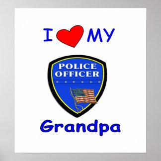 I Love My Police Grandpa Poster