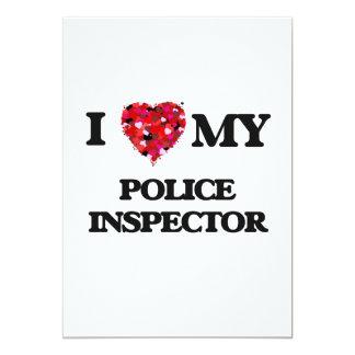 I love my Police Inspector 13 Cm X 18 Cm Invitation Card