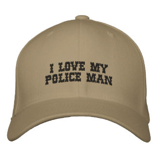 I LOVE MY POLICE MAN EMBROIDERED HATS