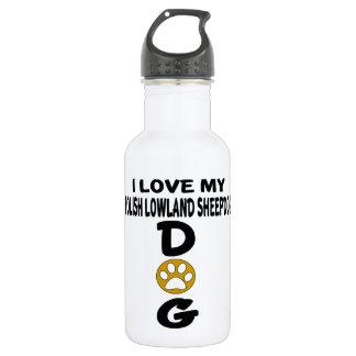 I Love My Polish Lowland Sheepdog Dog Designs 532 Ml Water Bottle
