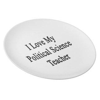 I Love My Political Science Teacher Party Plates