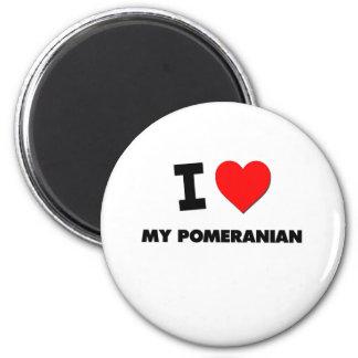 I Love My Pomeranian Magnets
