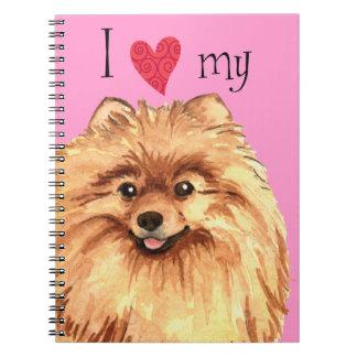 I Love my Pomeranian Spiral Notebook