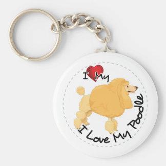 I Love My Poodle Dog Key Ring