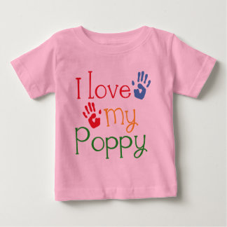 I Love My Poppy (Handprints) Baby T-Shirt