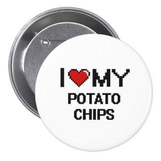 I Love My Potato Chips Digital design 7.5 Cm Round Badge