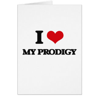 I Love My Prodigy Greeting Cards