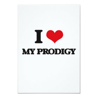 """I Love My Prodigy 3.5"""" X 5"""" Invitation Card"""