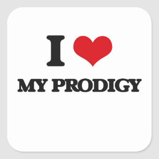 I Love My Prodigy Square Stickers