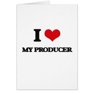 I Love My Producer Greeting Card