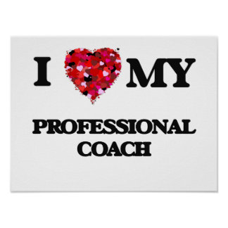 I love my Professional Coach Poster