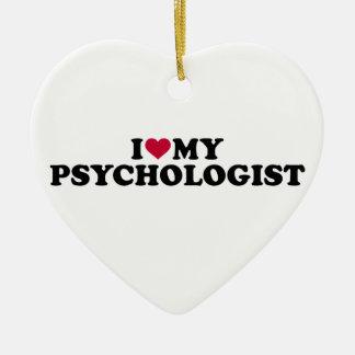 I love my psychologist ceramic ornament