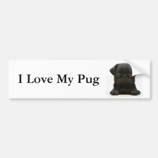 I Love My Pug #2 Bumper Sticker