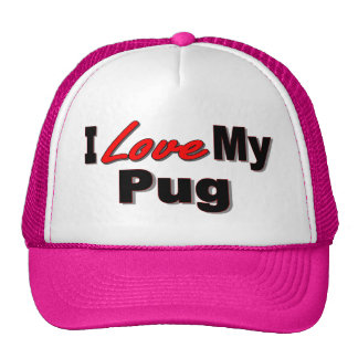 I Love My Pug Dog Gifts and Apparel Cap