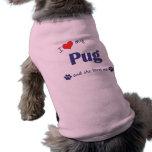 I Love My Pug (Female Dog) Pet Clothes
