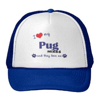 I Love My Pug Mixes (Multiple Dogs) Cap