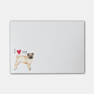 I Love my Pug Post-it® Notes