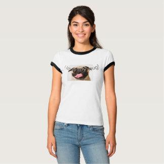 I Love My Pug T-Shirt with rim
