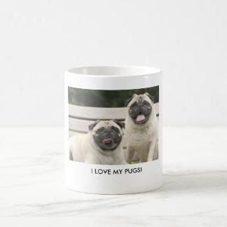 I LOVE MY PUGS! COFFEE MUGS