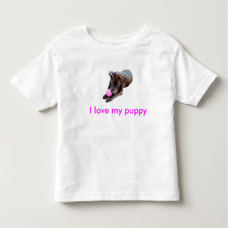 I love my puppy toddler T-Shirt