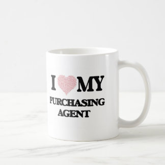 I love my Purchasing Agent (Heart Made from Words) Basic White Mug
