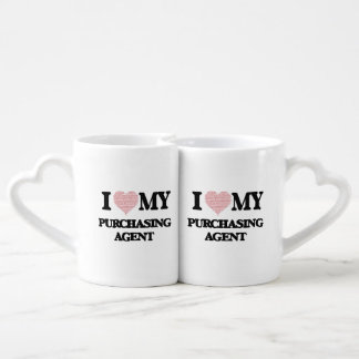 I love my Purchasing Agent (Heart Made from Words) Couples Mug
