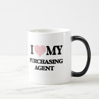 I love my Purchasing Agent (Heart Made from Words) Morphing Mug