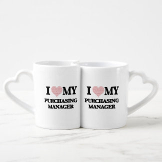 I love my Purchasing Manager (Heart Made from Word Couples Mug