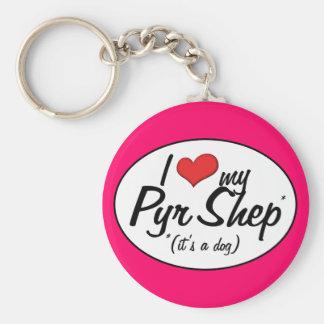 I Love My Pyr Shep (It's a Dog) Basic Round Button Key Ring