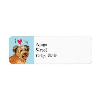 I Love my Pyrenean Shepherd Return Address Label