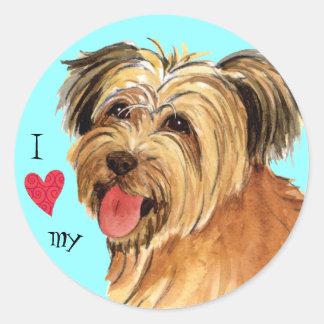 I Love my Pyrenean Shepherd Round Sticker