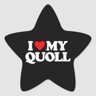 I LOVE MY QUOLL STICKERS