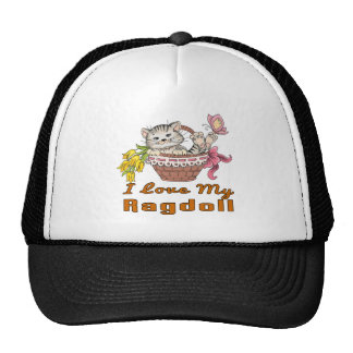 I Love My Ragdoll Cap