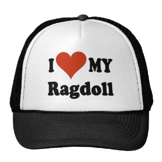 I Love My Ragdoll Cat Merchandise Cap