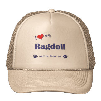 I Love My Ragdoll (Male Cat) Cap