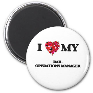 I love my Rail Operations Manager 2 Inch Round Magnet