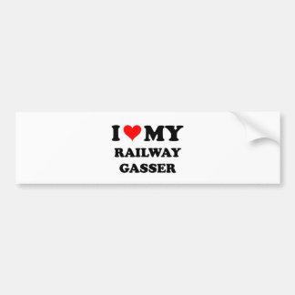 I Love My Railway Gasser Bumper Sticker