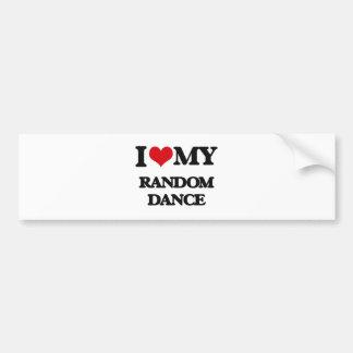 I Love My RANDOM DANCE Bumper Sticker