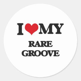 I Love My RARE GROOVE Round Stickers