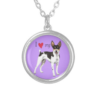 I Love my Rat Terrier Silver Plated Necklace