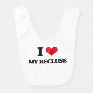 I Love My Recluse Baby Bib