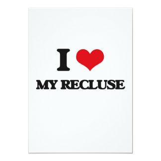 "I Love My Recluse 5"" X 7"" Invitation Card"