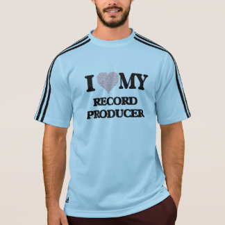 I love my Record Producer (Heart Made from Words) Tee Shirt