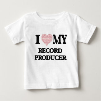 I love my Record Producer (Heart Made from Words) Tee Shirts