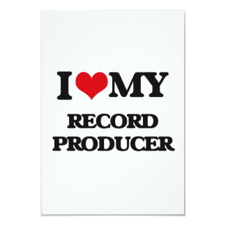 I love my Record Producer Personalized Invitations