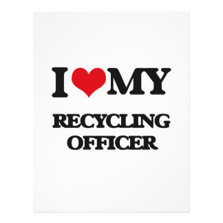 I love my Recycling Officer Flyer Design