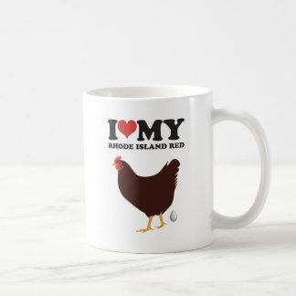 I Love My Rhode Island Red Coffee Mug