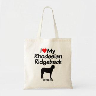 I Love My Rhodesian Ridgeback Dog Bag
