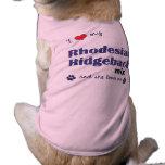 I Love My Rhodesian Ridgeback Mix (Female Dog) Pet Tee Shirt