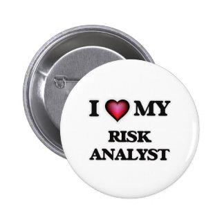 I love my Risk Analyst 6 Cm Round Badge